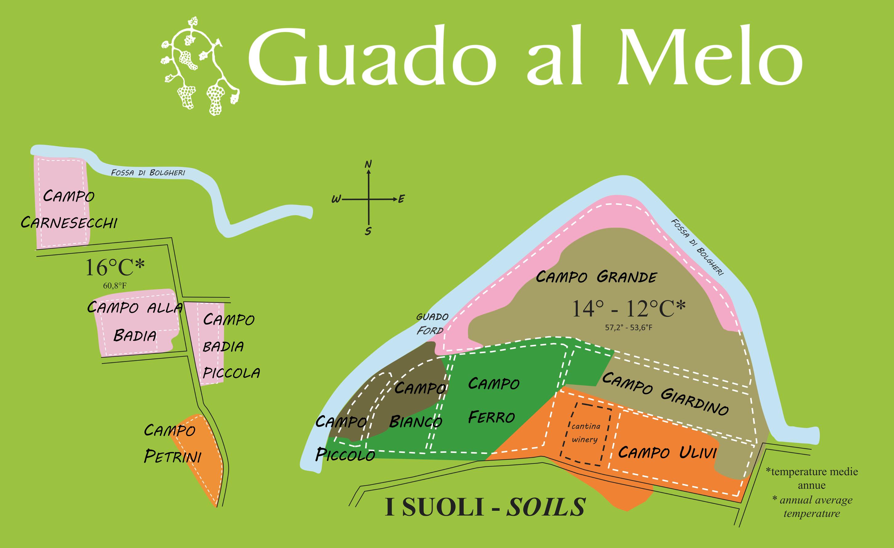 Zonazione Guado al Melo mappa
