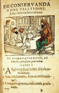 Constantine the African lecturing to the school of Salerno