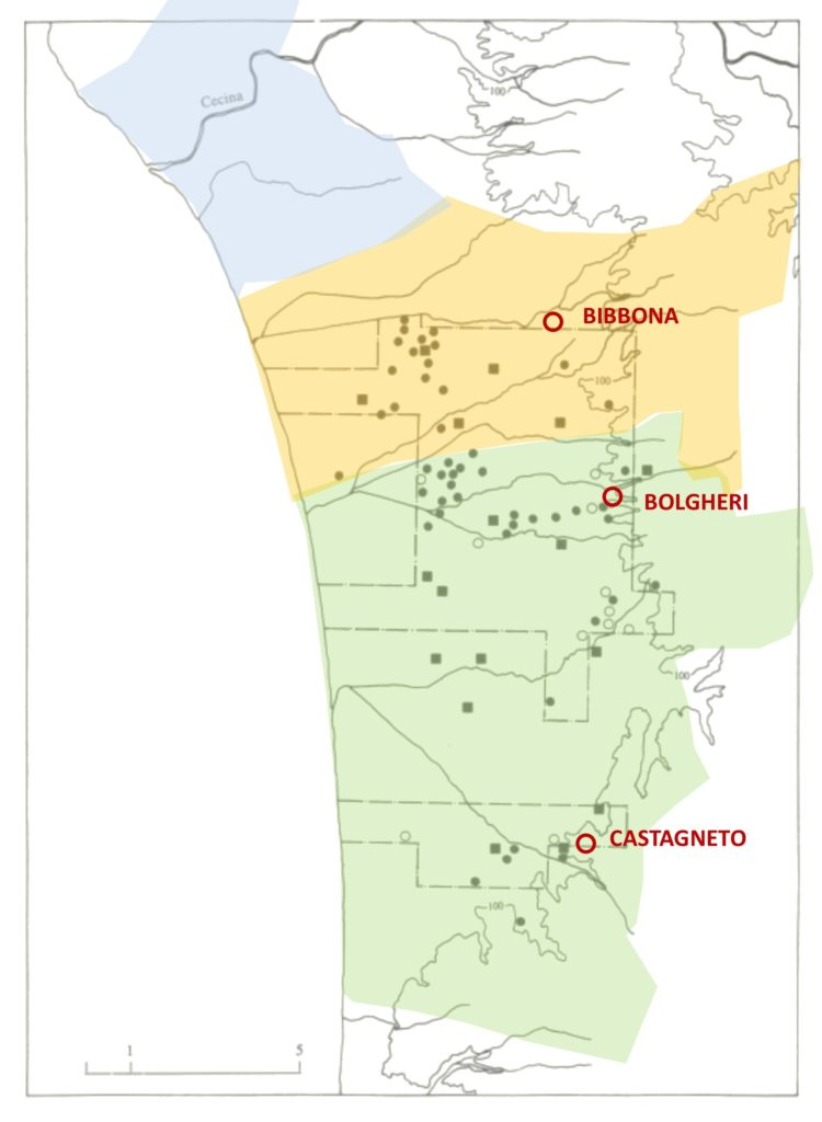 cartina ville ed insediamenti locali