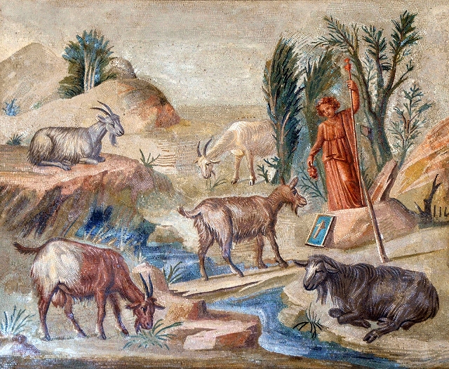 il saltus compare sempre più anche in affreschi e opere dell'epoca (dalla villa di Adriano)