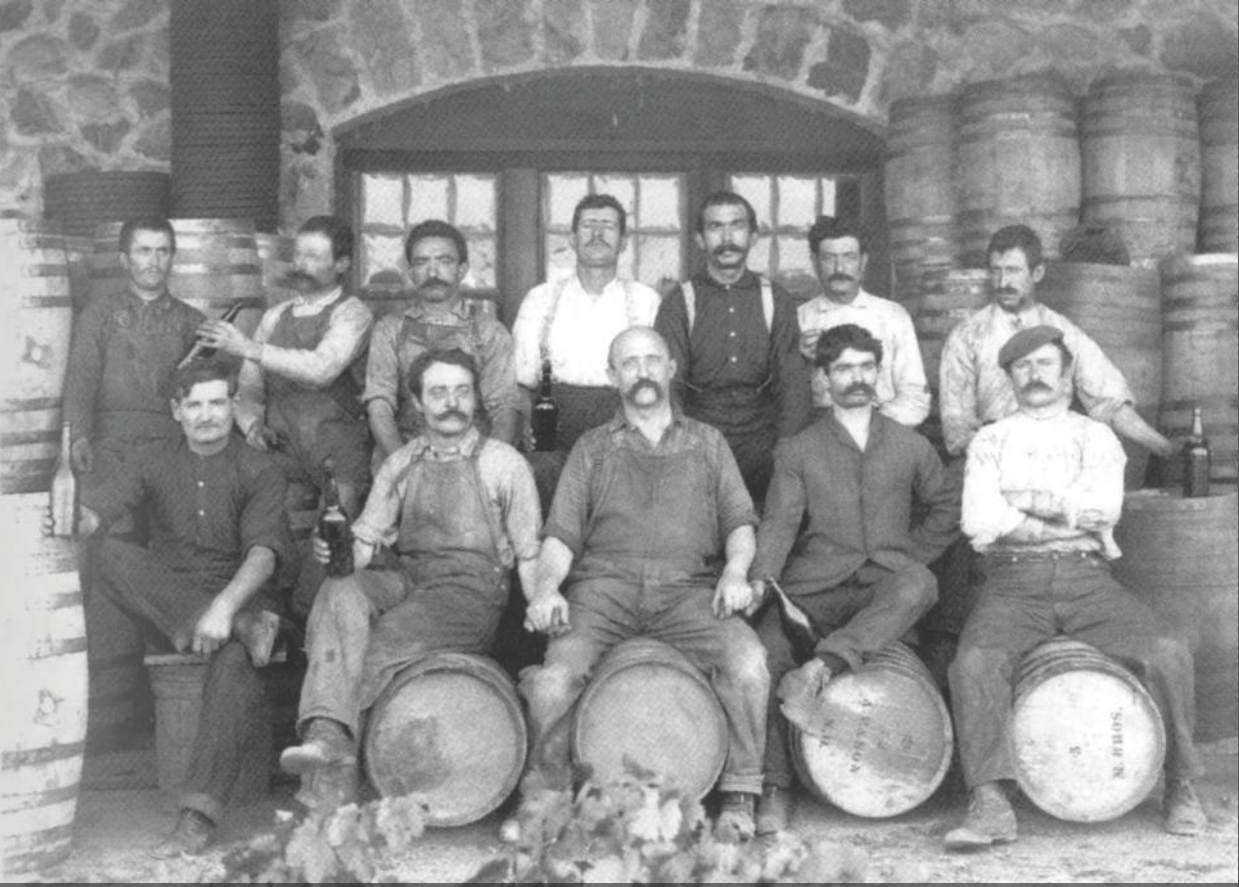 Lavoratori piemontesi dell'Italian Vineyard Company, California (Cal Poly Pomona, University Library Special Collections)