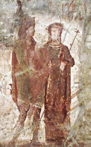 Liber e Libera in un affresco di Pompei