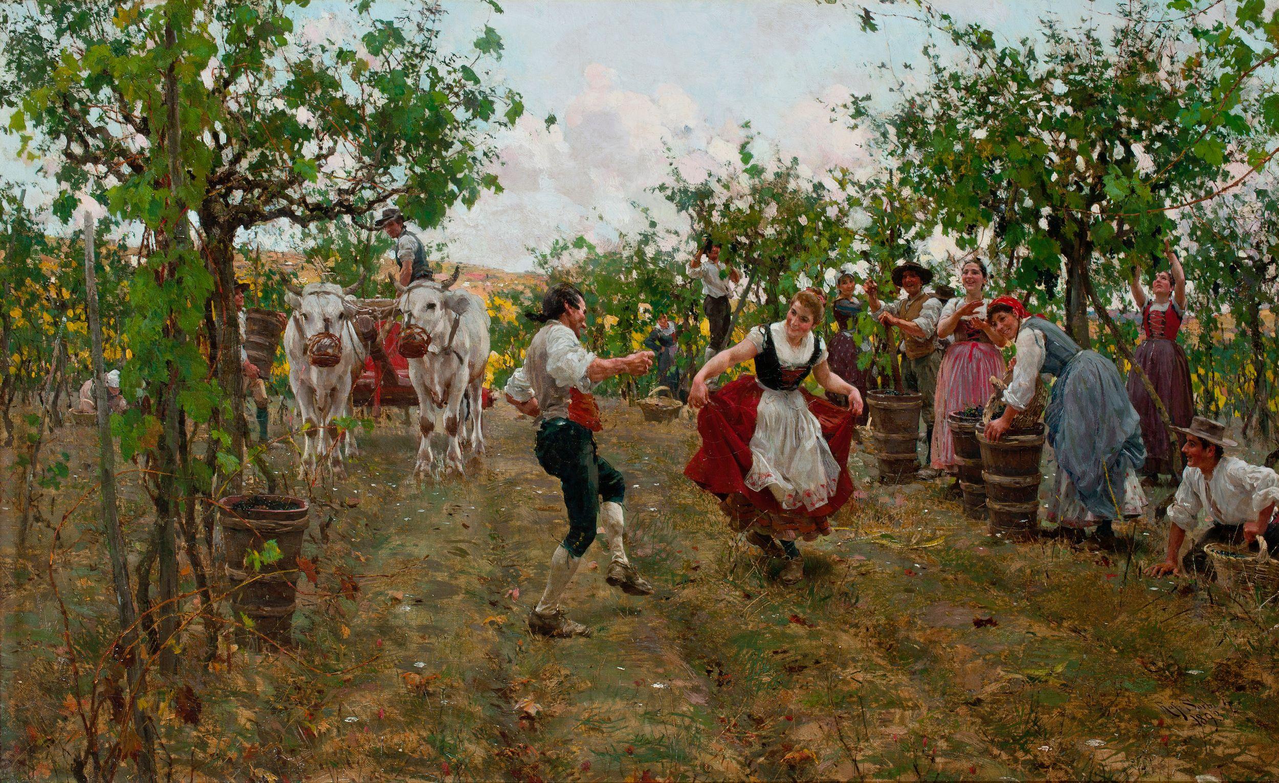 Raffaello_Sorbi_-_La_festa_della_vendemmia 1893