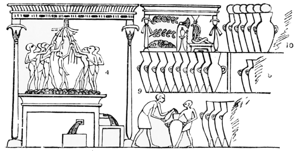 PSM_V51_D243_Pressing_the_grapes_and_storing_wine