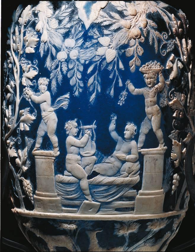 Vaso blu (MANN, I sec. d.C.) Pompei museo archeologico di Napoli