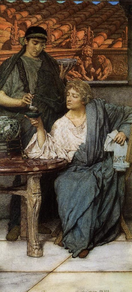 the-roman-wine-tasters-1861 Alma Tadema