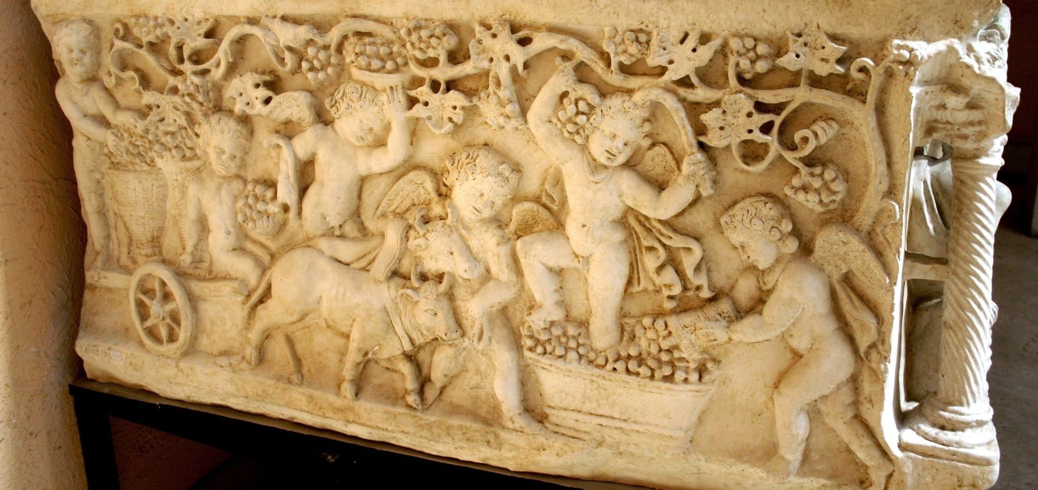 1065_-_Roma,_Museo_d._civiltà_Romana_-_Calco_sarcofago_Giunio_Basso_-_Foto_Giovanni_Dall'Orto,_12-Apr-2008