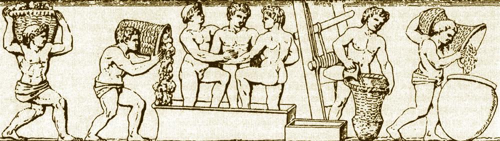 Foulage_et_pressurage_bas_relief_en_marbre_dessin_de_Zoega_1808