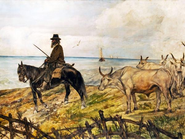 """Giovanni Fattori """"Conduttori-di-mandrie"""", 1907"""